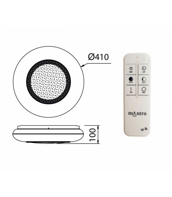 24W LED Lubinis šviestuvas OPERA Ø41 Dimeriuojamas 6235