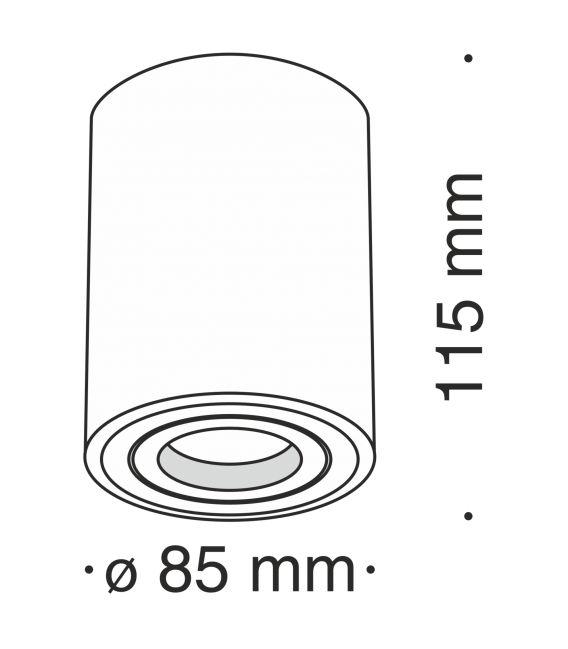 Lubinis šviestuvas ALFA Ø8.5 C016CL-01W