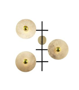 Sieninis šviestuvas 02307 Gold 123-02307-18