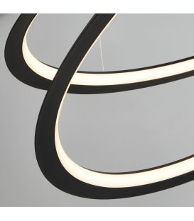 43W LED Pakabinamas šviestuvas SWIRL Black 51871-1BK