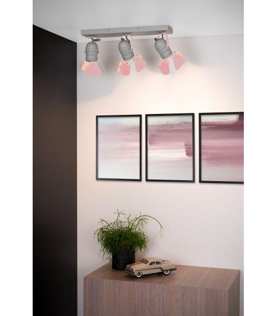Lubinis šviestuvas PICTO 3 Pink 17997/03/66