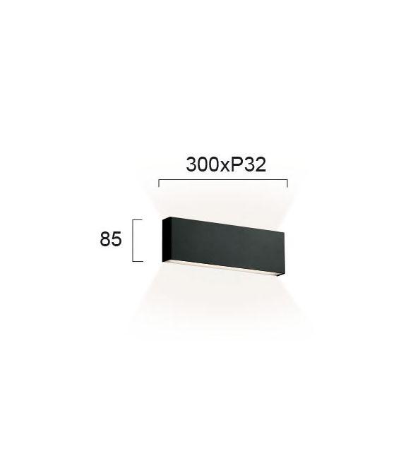 12W LED Sieninis šviestuvas HUGO Black 4243601