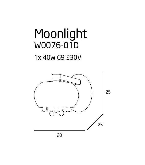 Sieninis šviestuvas MOONLIGHT W0076-01D