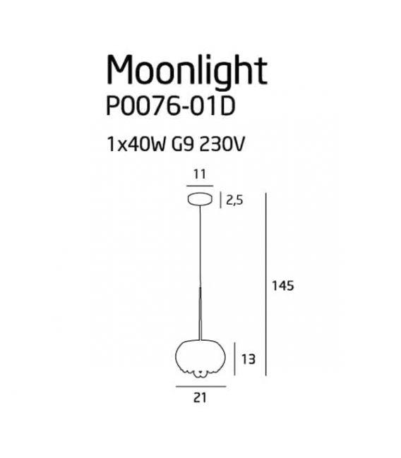 Pakabinamas šviestuvas MOONLIGHT P0076-01D