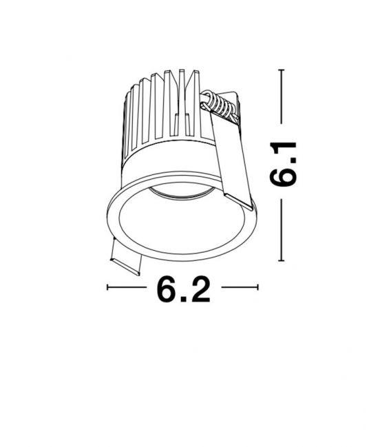 9W LED Įmontuojamas šviestuvas PETIT White IP42 9844013