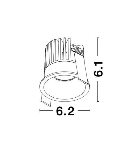 9W LED Įmontuojamas šviestuvas PETIT Black IP42 9844014