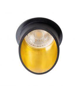 Įmontuojamas šviestuvas SPAG Black/Gold Ø6.8 27324