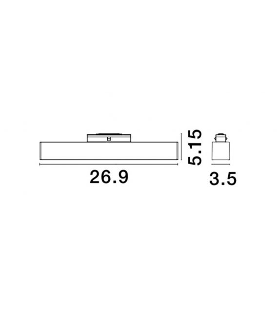 15W LED Magnetinis šviestuvas RIETI 4000K 8254412