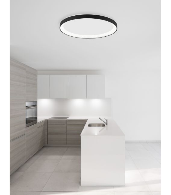 30W LED Lubinis šviestuvas PERTINO Black Ø38 Dimeriuojamas 9853672