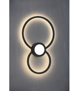 24W LED Sieninis šviestuvas MURAL Round Black 7460