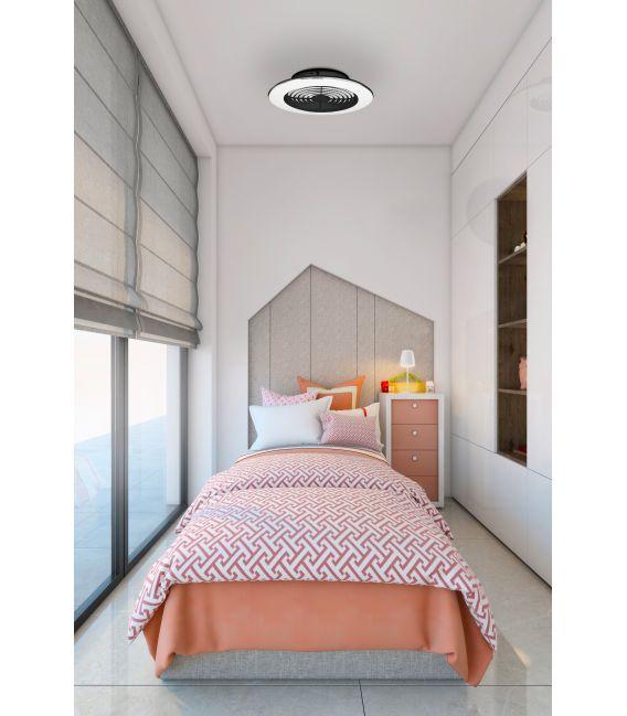 95W LED Šviestuvas su ventiliatoriumi ALISIO XL Black Dimeriuojamas 7492