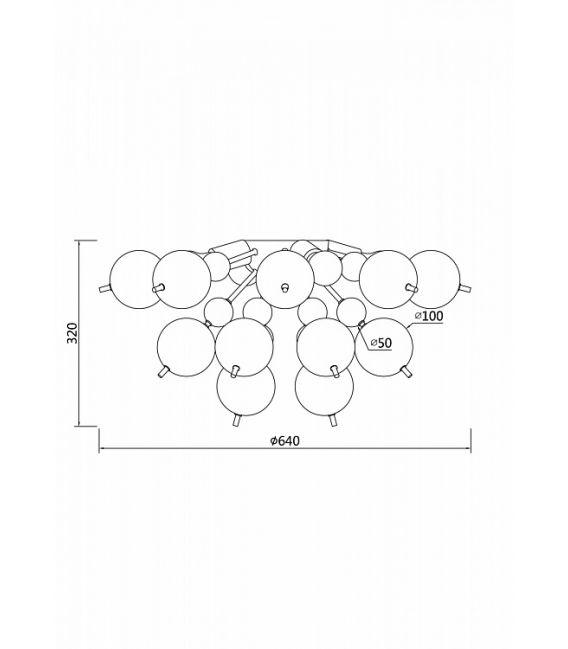 Lubinis šviestuvas Bolla Amber MOD133CL-04BS