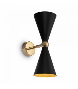 Sieninis šviestuvas Vesper Black with Gold MOD108WL-02GB