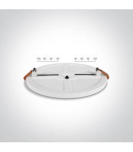 10W LED Įmontuojama panelė White Round Ø12 3000K 10110CE/W