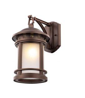 Sieninis šviestuvas SALAMANCA Brown IP44 O031WL-01BR