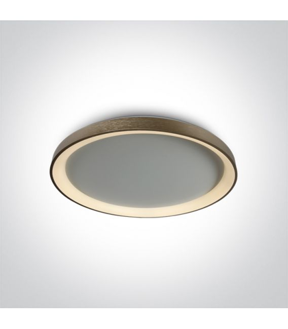 48W LED Lubinis šviestuvas Brushed Brass Ø58 62148L/BBS/W