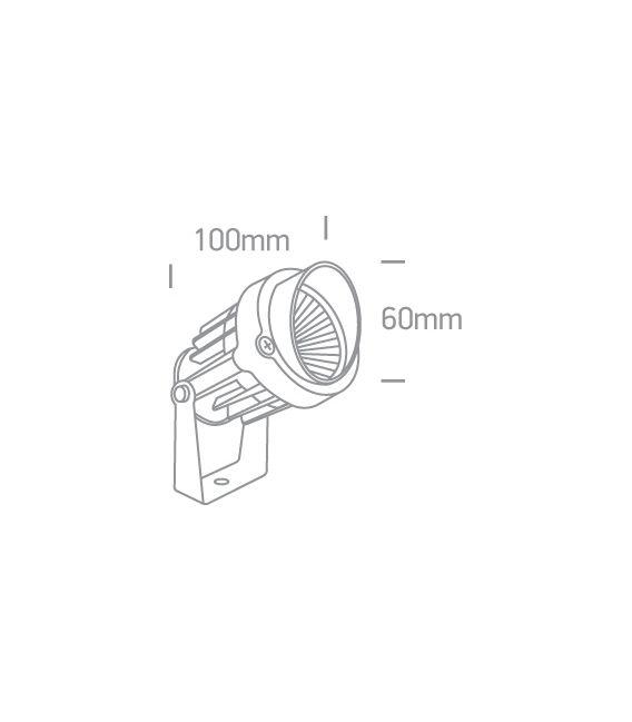6W LED pastatomas šviestuvas Black IP65 7068/B/W