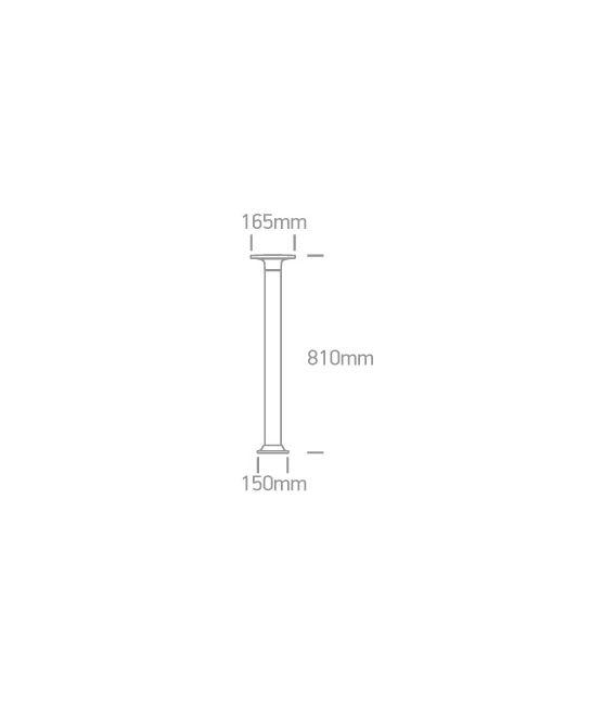 6,5W LED Pastatomas šviestuvas Black 81 IP54 67490A/B/W