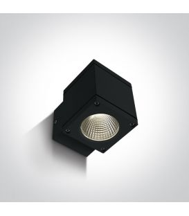 6W LED Sieninis šviestuvas IP54 Black 67138F/B/W