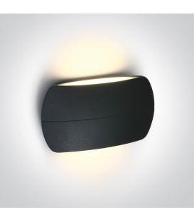 12W LED Sieninis šviestuvas IP54 Anthracite 67378A/AN/W