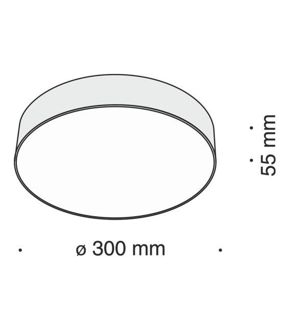 43W LED Lubinis šviestuvas ZON Ø30 White 4000K C032CL-L43W4K