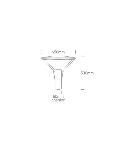 75W LED Pastatomas šviestuvas IP66 Black 4000K 70112/B/C