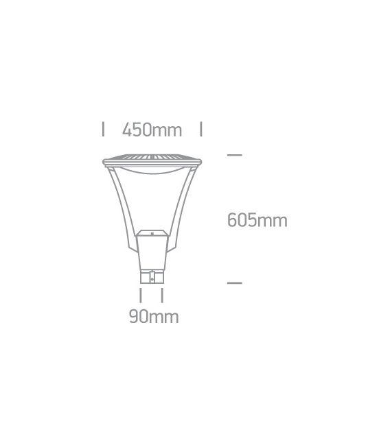 50W LED Pastatomas šviestuvas IP65 Anthracite 4000K 70105/AN/C