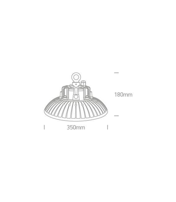 200W LED Lubinis šviestuvas IP65 Black 4000K 63200N/C