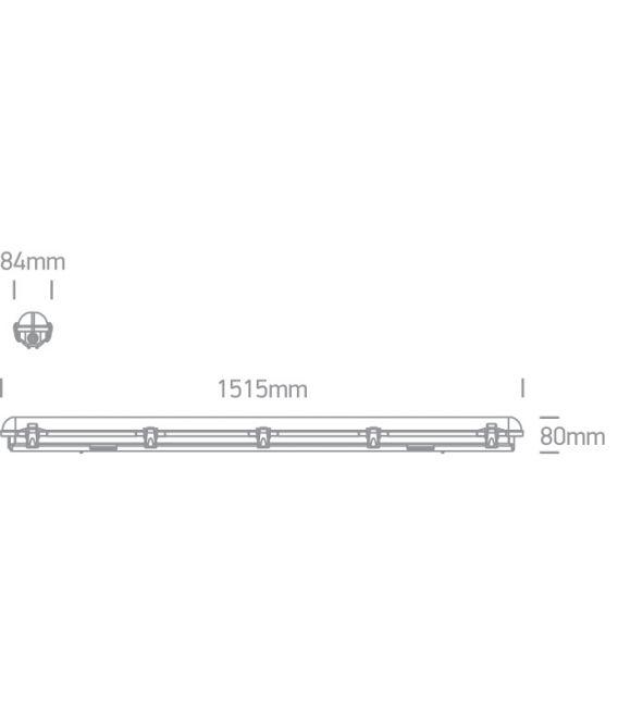 Lubinis šviestuvas IP65 4000K 38158M/C