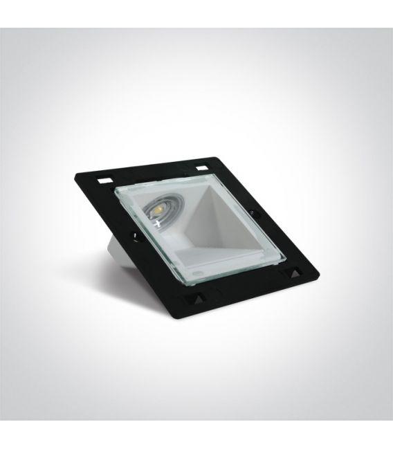 1W LED Įmontuojamas šviestuvas IP44 3000K 68006N/W
