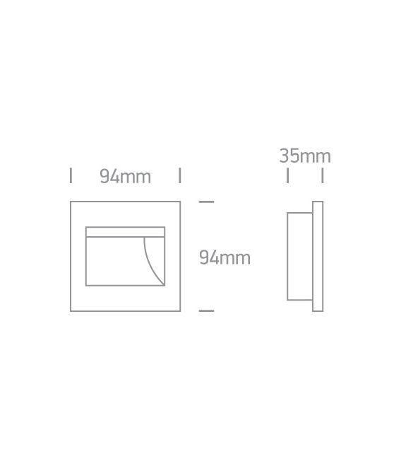 1.5W LED Įmontuojamas šviestuvas White 3000K 68007/W/W