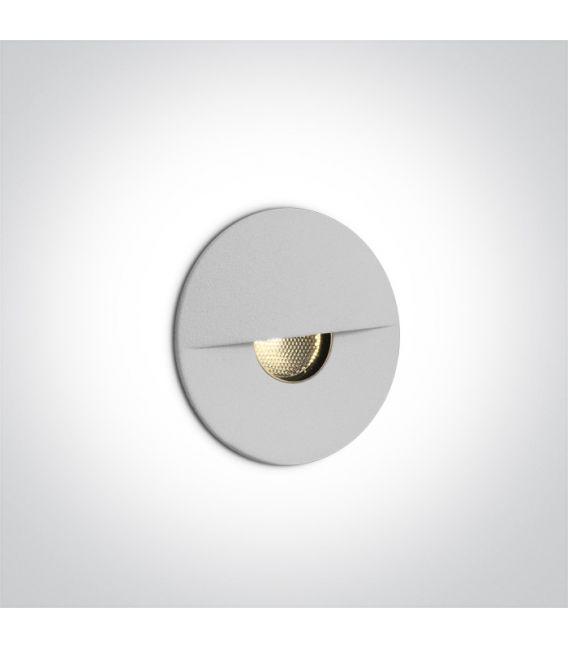 1W LED Įmontuojamas šviestuvas White IP65 3000K 68070/W/W