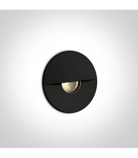 1W LED Įmontuojamas šviestuvas Black IP65 3000K 68070/B/W