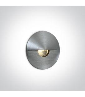 1W LED Įmontuojamas šviestuvas Aluminium IP65 3000K 68070/AL/W