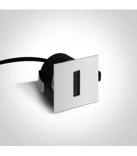 3W LED Įmontuojamas šviestuvas IP54 White 3000K 68004/W/W