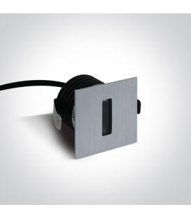 3W LED Įmontuojamas šviestuvas IP54 Aluminium 3000K 68004/AL/W