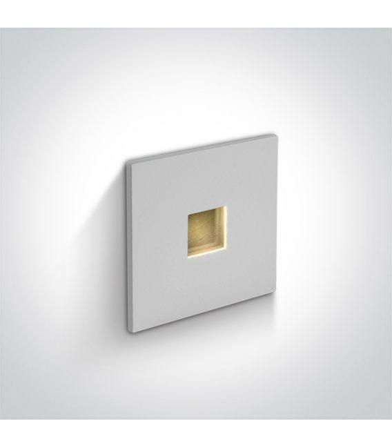 1W LED Įmontuojamas šviestuvas IP54 White 3000K 68004A/W/W