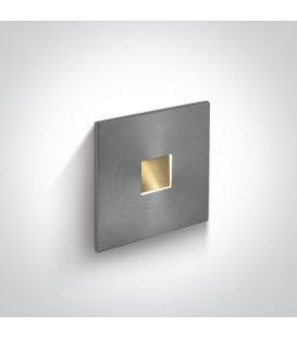 1W LED Įmontuojamas šviestuvas IP54 Aluminium 3000K 68004A/AL/W