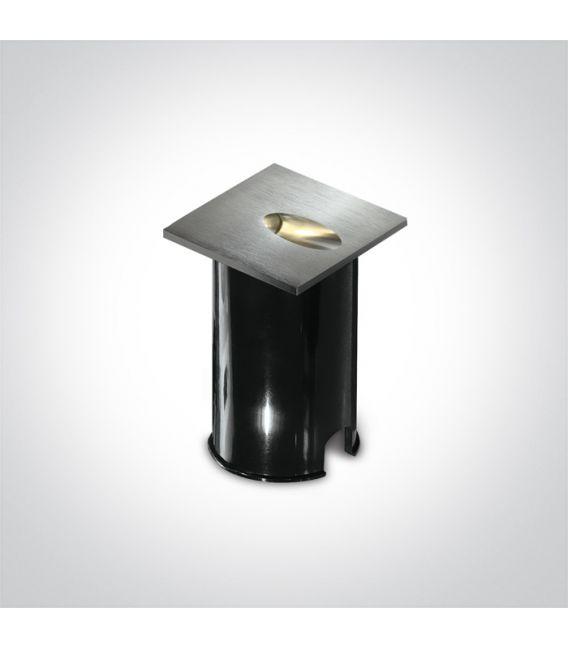 3W LED Įmontuojamas šviestuvas Aluminium IP54 3000K 68032/AL/W