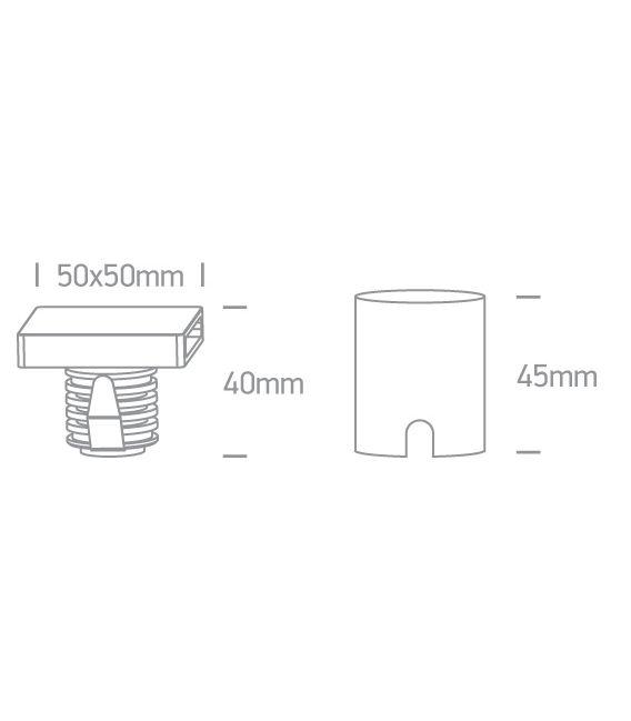 2W LED Įmontuojamas šviestuvas IP65 White 3000K 68074A/W/W
