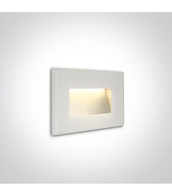 4W LED Įmontuojamas šviestuvas White IP65 3000K 68076/W/W