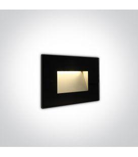 4W LED Įmontuojamas šviestuvas Black IP65 3000K 68076/B/W