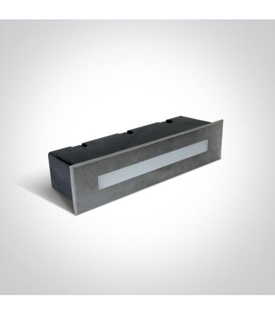 10W LED Įmontuojamas šviestuvas Steel IP65 3000K 68072C/W