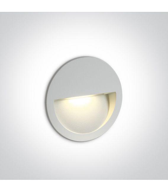 3W LED Įmontuojamas šviestuvas White IP65 3000K 68068/W/W