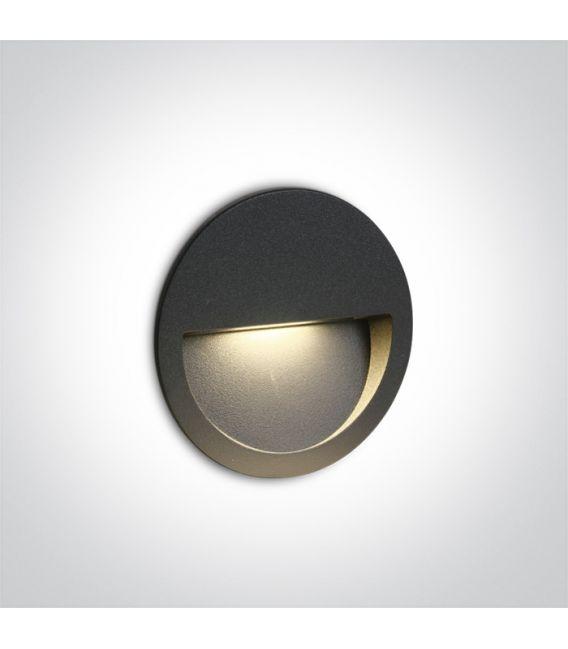 3W LED Įmontuojamas šviestuvas Anthracite IP65 3000K 68068/AN/W