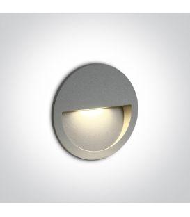 3W LED Įmontuojamas šviestuvas Grey IP65 3000K 68068/G/W