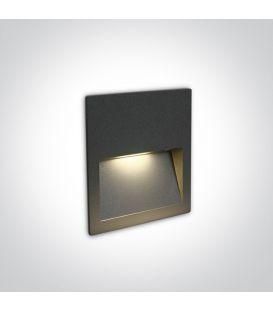 4W LED Įmontuojamas šviestuvas Anthracite IP65 3000K 68068A/AN/W