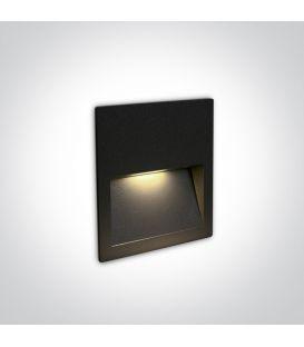 4W LED Įmontuojamas šviestuvas Black IP65 3000K 68068A/B/W