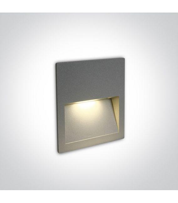 4W LED Įmontuojamas šviestuvas Grey IP65 3000K 68068A/G/W