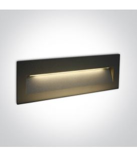 7W LED Įmontuojamas šviestuvas Anthracite IP65 3000K 68068C/AN/W